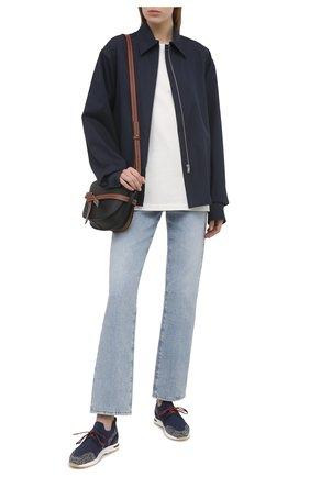 Женские комбинированные кроссовки 360 lp walk LORO PIANA синего цвета, арт. FAI1590 | Фото 2