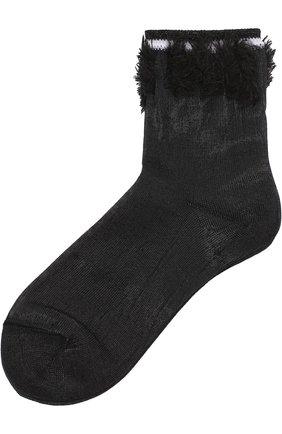 Однотонные носки с контрастной бахромой | Фото №1