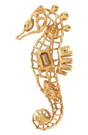 фигурная брошь с отделкой кристаллами swarovski OSCAR DE LA RENTA золотого цвета, арт. P18J315CGS | Фото 2
