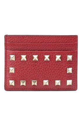 Женский футляр для кредитных карт valentino garavani rockstud VALENTINO бордового цвета, арт. QW1P0486/VSH | Фото 1