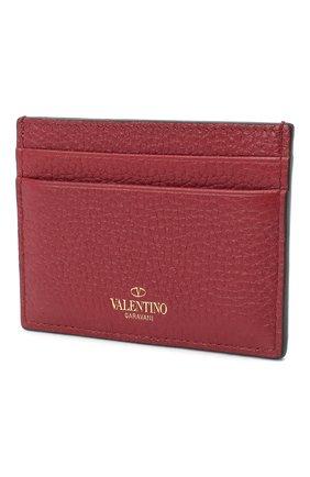 Женский футляр для кредитных карт rockstud VALENTINO бордового цвета, арт. QW1P0486/VSH | Фото 2 (Статус проверки: Проверено)