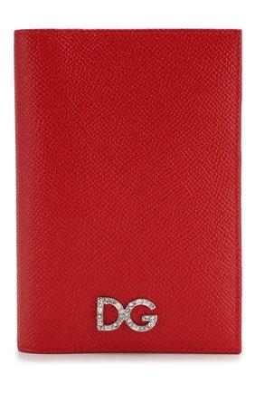 Женские кожаная обложка для паспорта DOLCE & GABBANA красного цвета, арт. BI2215/AU771 | Фото 1