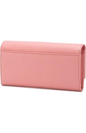 Женские кожаный кошелек с клапаном DOLCE & GABBANA розового цвета, арт. BI0087/AU771 | Фото 2