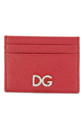 Женский футляр для кредитных карт DOLCE & GABBANA красного цвета, арт. BI0330/AU771 | Фото 1
