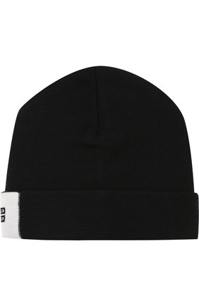 Шерстяная шапка с логотипом бренда | Фото №1