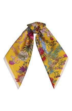 Женский шелковый платок 100 flowers RADICAL CHIC желтого цвета, арт. 402673.07.02   Фото 1
