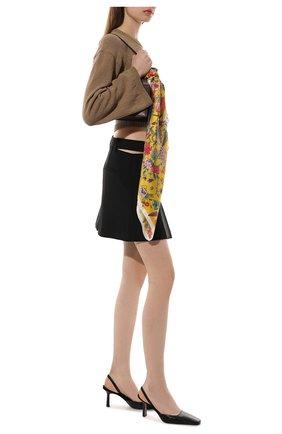 Женский шелковый платок 100 flowers RADICAL CHIC желтого цвета, арт. 402673.07.02   Фото 2