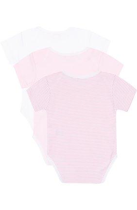 Хлопковый комплект из трех боди Kissy Kissy розового цвета | Фото №1