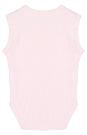 Хлопковое боди без рукавов Kissy Kissy розового цвета | Фото №1