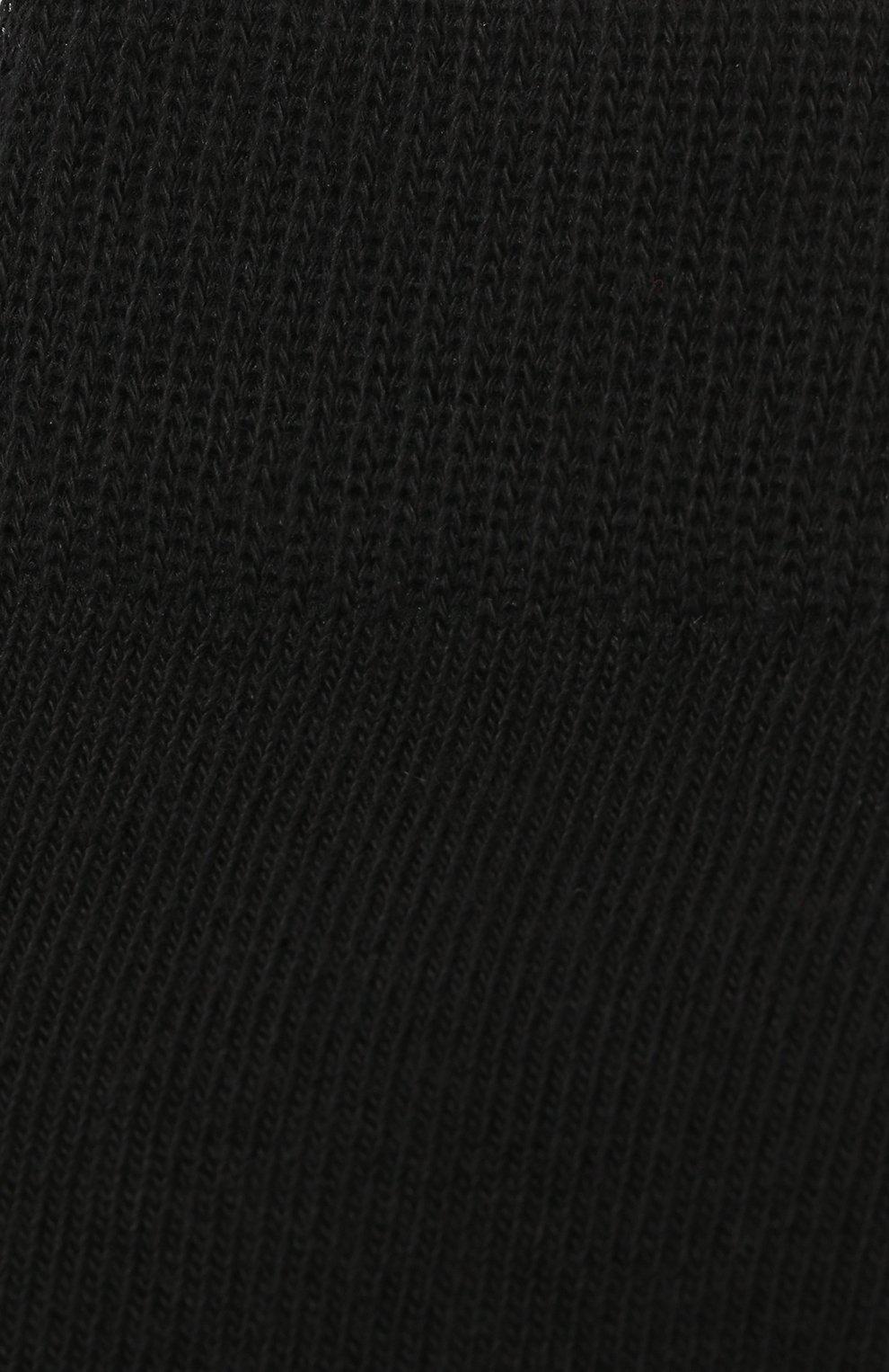 Детские гольфы из хлопка Falke черного цвета | Фото №2