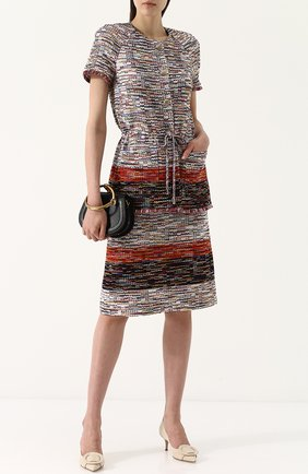 Твидовая юбка-карандаш St. John красная | Фото №1