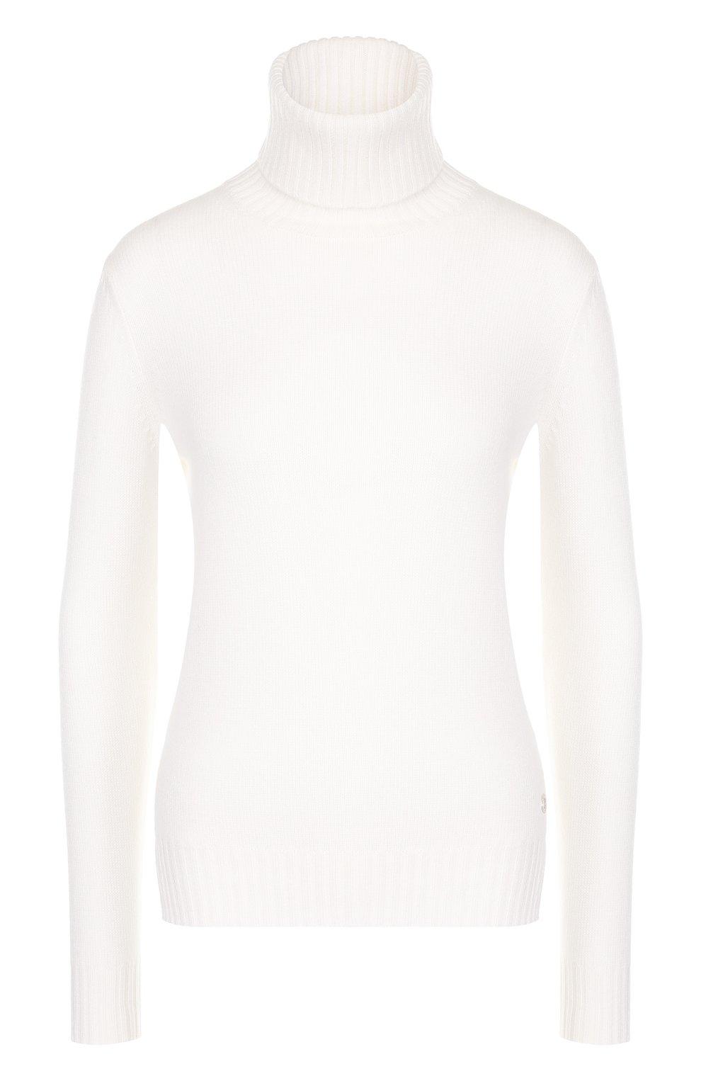 Женская кашемировая водолазка LORO PIANA белого цвета, арт. FAG3537   Фото 1