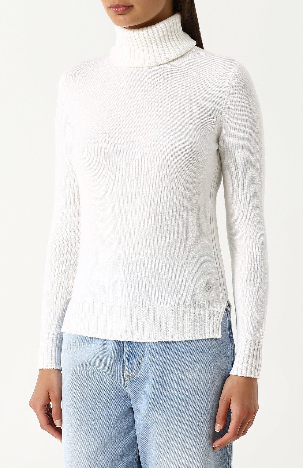 Женская кашемировая водолазка LORO PIANA белого цвета, арт. FAG3537   Фото 3
