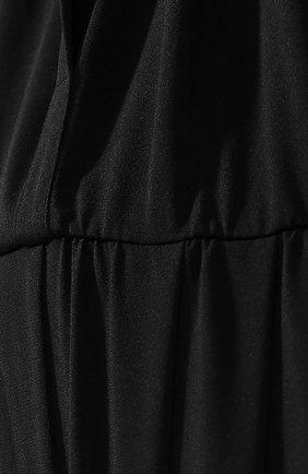 Однотонный приталенный комбинезон c укороченным рукавом NATAYAKIM черное   Фото №5
