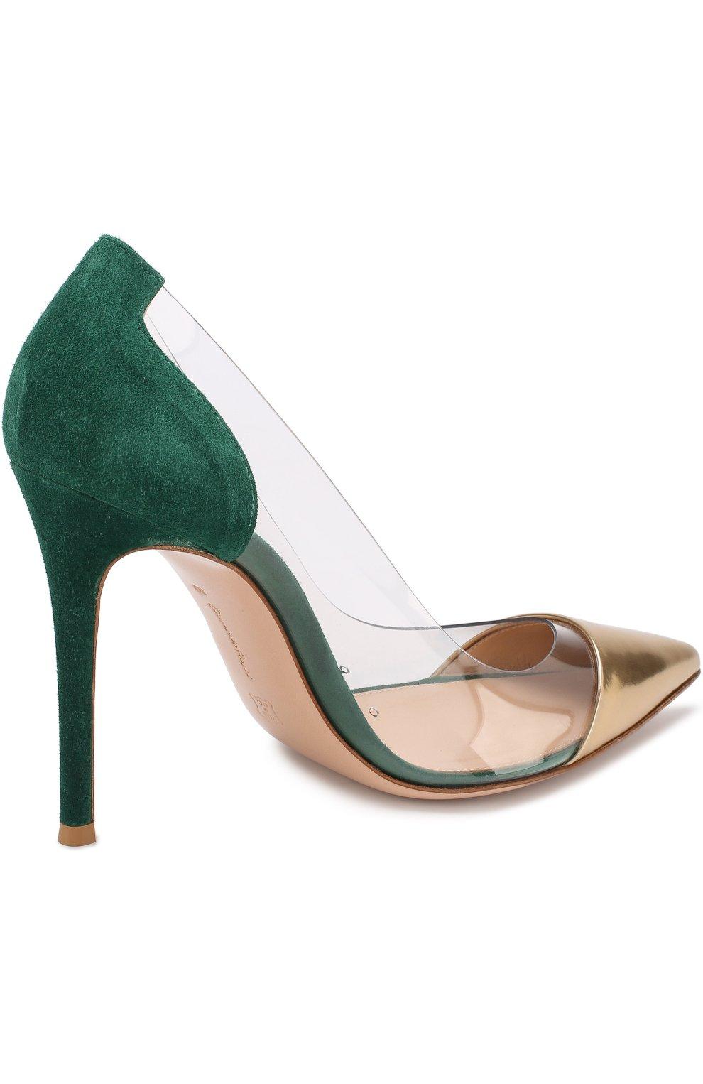 Комбинированные туфли Plexi на шпильке | Фото №4