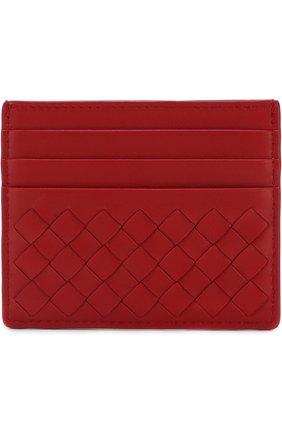 Кожаный футляр для кредитных карт с плетением intrecciato   Фото №1