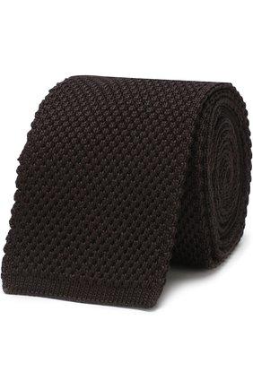 Шелковый вязаный галстук | Фото №1