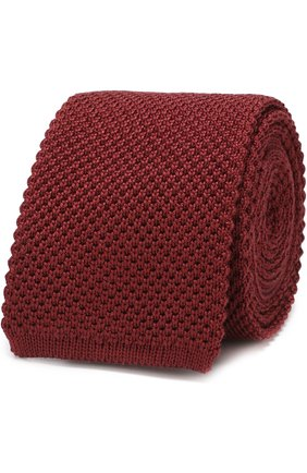 Мужской шелковый вязаный галстук BRIONI бордового цвета, арт. 090B00/0742J | Фото 1