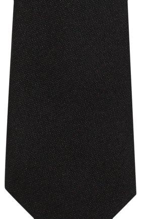 Галстук из шелка Dolce & Gabbana черного цвета   Фото №3