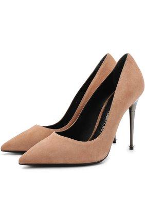 Замшевые туфли Metal Heel на шпильке | Фото №1