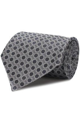 Мужской шелковый галстук TOM FORD серого цвета, арт. 3TF49/XTF | Фото 1