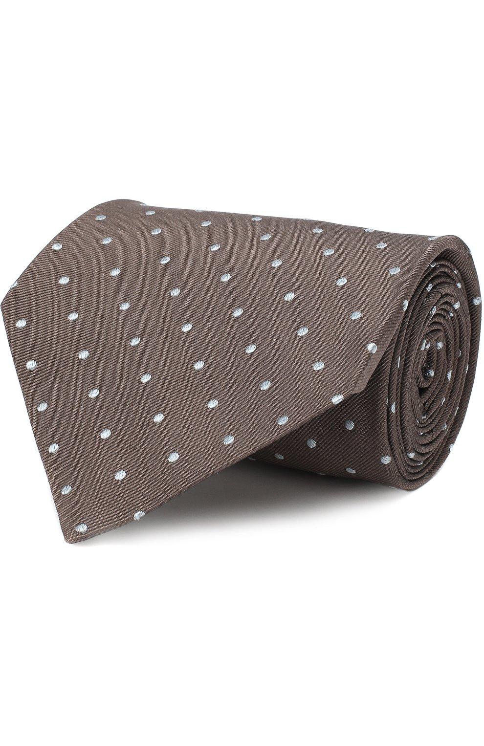 Мужской шелковый галстук TOM FORD коричневого цвета, арт. 3TF43/XTF   Фото 1