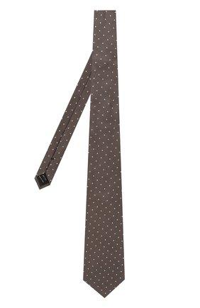 Мужской шелковый галстук TOM FORD коричневого цвета, арт. 3TF43/XTF   Фото 2
