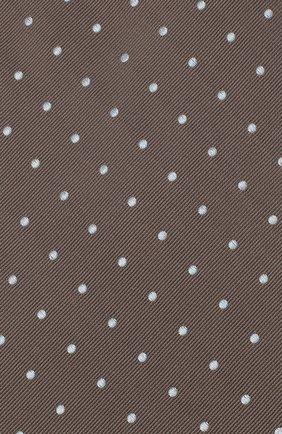Мужской шелковый галстук TOM FORD коричневого цвета, арт. 3TF43/XTF   Фото 3