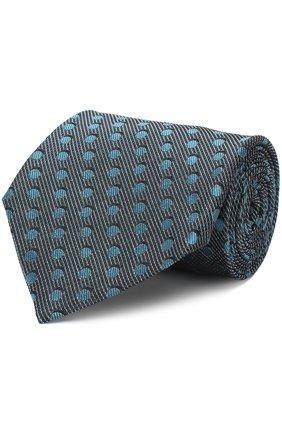 Мужской шелковый галстук TOM FORD бирюзового цвета, арт. 3TF48/XTF | Фото 1