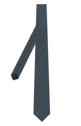 Мужской шелковый галстук TOM FORD бирюзового цвета, арт. 3TF48/XTF | Фото 2