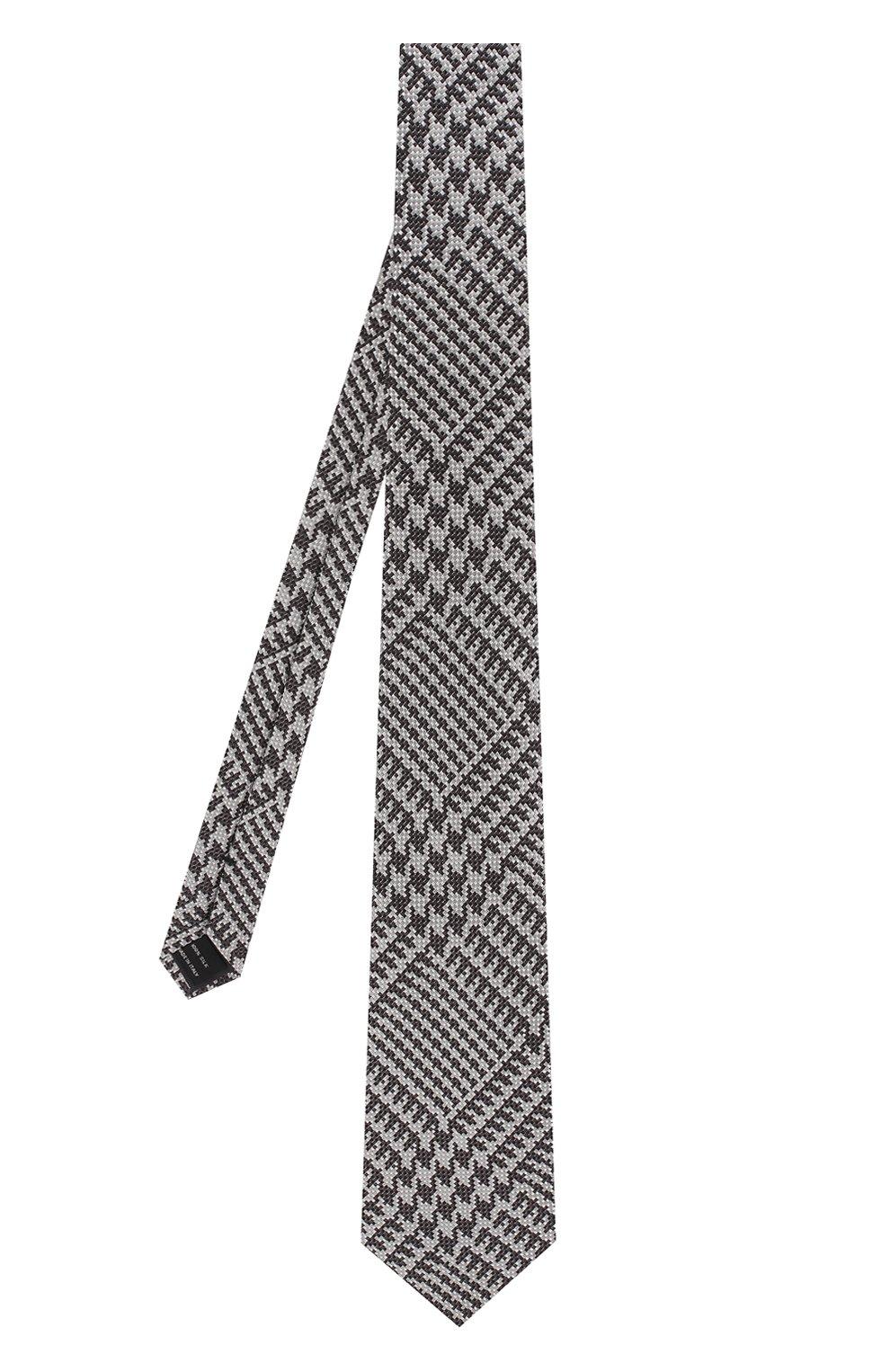 Мужской шелковый галстук TOM FORD серого цвета, арт. 3TF72/XTF   Фото 2