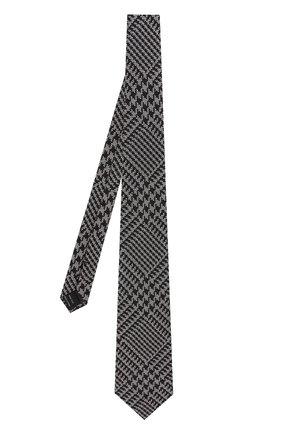 Мужской шелковый галстук TOM FORD темно-серого цвета, арт. 3TF72/XTF | Фото 2