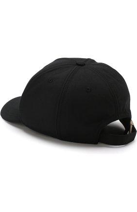 Шерстяная бейсболка Versus Versace черного цвета   Фото №1