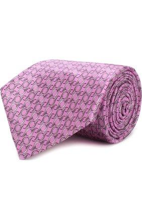 Мужской шелковый галстук ZILLI розового цвета, арт. MIP-CC7PL-40970/N001 | Фото 1