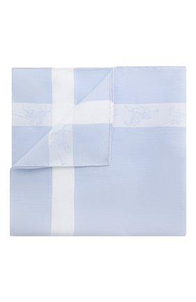 Мужской хлопковый платок SIMONNOT-GODARD светло-голубого цвета, арт. P0L0 | Фото 1