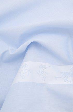 Мужской хлопковый платок SIMONNOT-GODARD светло-голубого цвета, арт. P0L0 | Фото 2