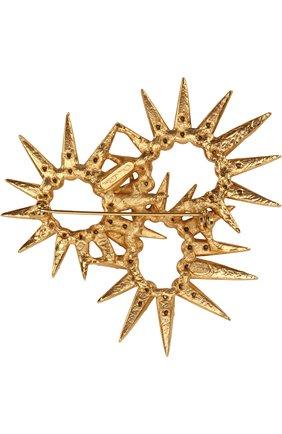 брошь с отделкой кристаллами swarovski OSCAR DE LA RENTA золотого цвета, арт. P18J307VIN | Фото 2