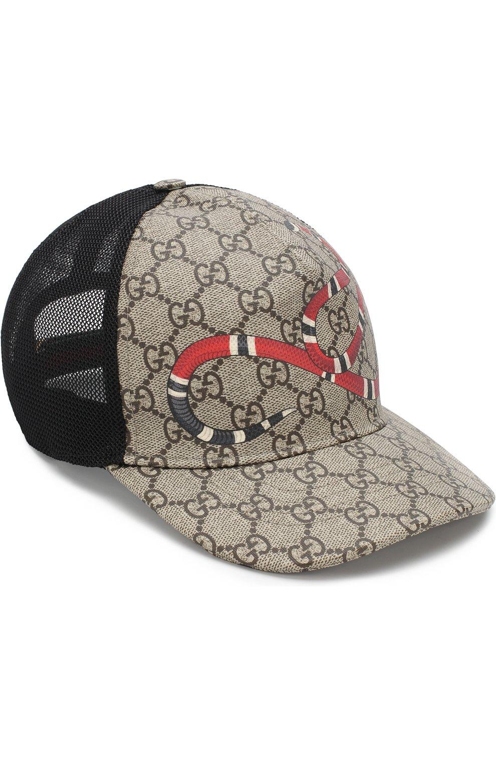 Мужской бейсболка gg supreme GUCCI темно-коричневого цвета, арт. 426887/4HB10 | Фото 1
