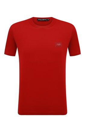 Мужская хлопковая футболка DOLCE & GABBANA красного цвета, арт. G8HL0T/G70PD   Фото 1