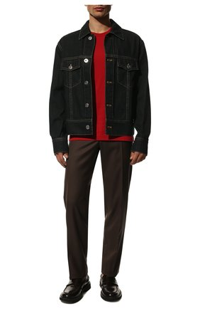 Мужская хлопковая футболка DOLCE & GABBANA красного цвета, арт. G8HL0T/G70PD   Фото 2