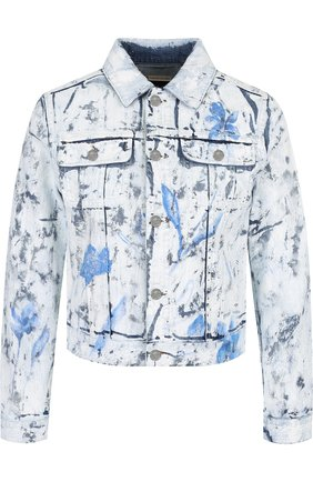 Джинсовая куртка с декорированной отделкой | Фото №1