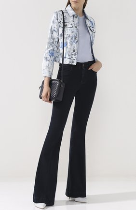 Джинсовая куртка с декорированной отделкой | Фото №2