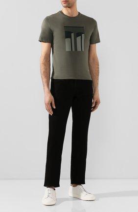 Мужские джинсы прямого кроя 7 FOR ALL MANKIND черного цвета, арт. JSMSR730PB | Фото 2