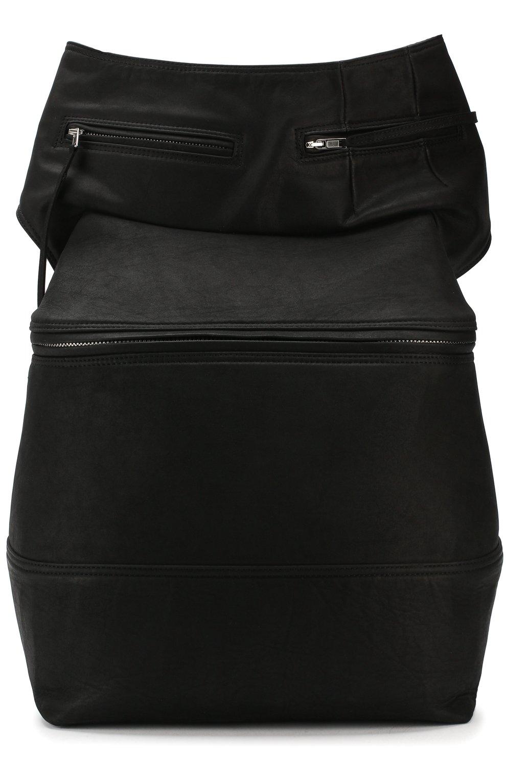 73b1c6196ee5 Мужская черная кожаная поясная сумка RICK OWENS — купить за 126000 ...