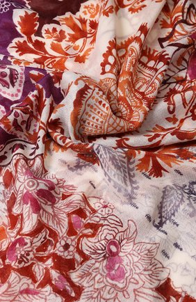 Женская шаль notturno indiano из смеси кашемира и шелка LORO PIANA малинового цвета, арт. FAI2340 | Фото 2
