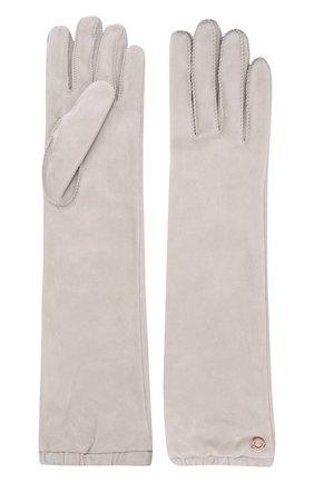 Женские удлиненные перчатки mischa из кожи и замши LORO PIANA светло-бежевого цвета, арт. FAI2439 | Фото 2 (Статус проверки: Проверено, Проверена категория; Длина (верхняя одежда): Длинные)