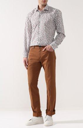 Мужская хлопковая сорочка с воротником кент ZILLI разноцветного цвета, арт. MFP-11104-54035/0003 | Фото 2