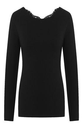 Женская хлопковый лонгслив LA PERLA черного цвета, арт. 0021054 | Фото 1