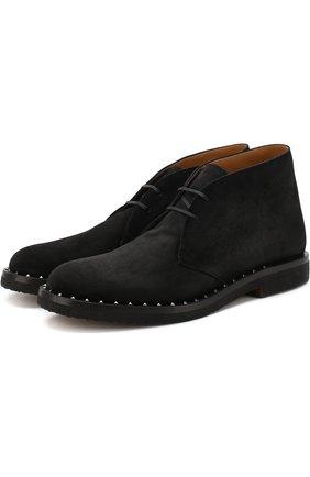 Кожаные ботинки Valentino Garavani Soul Rockstud | Фото №1