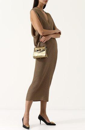 Сумка Tribute mini Versace золотая цвета | Фото №1